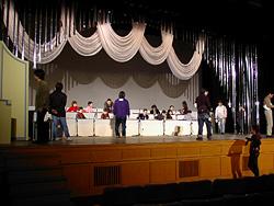 琴伝流の舞台リハーサル